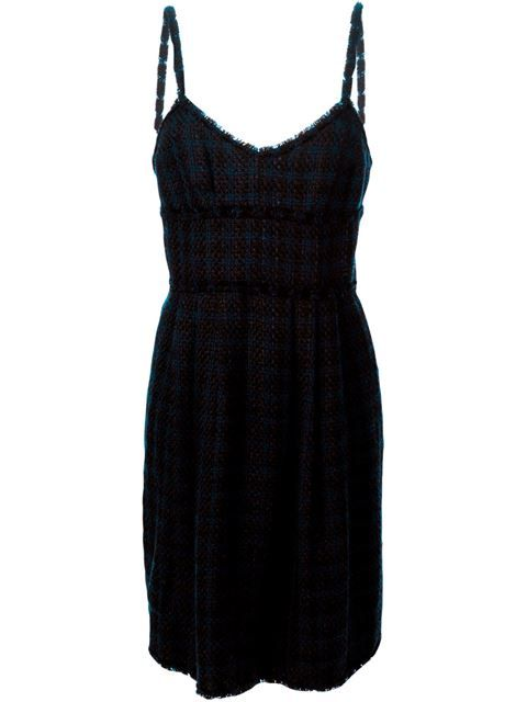 Shop Chanel Vintage pleated tweed dress in Dressing Factory from the world's best independent boutiques at farfetch.com. Shop 300 boutiques at one address.