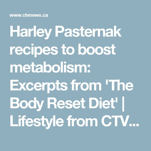 Harley Pasternak recipes to boost metabolism: Excerpts from 'The Body Reset Diet' | Lifestyle from CTV News