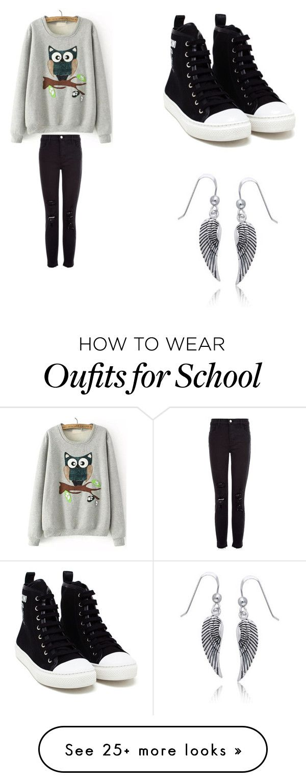 """""""Annabeth Chase high school"""" by judge-navreenkaur on Polyvore featuring Moschino, J Brand and Bling Jewelry"""