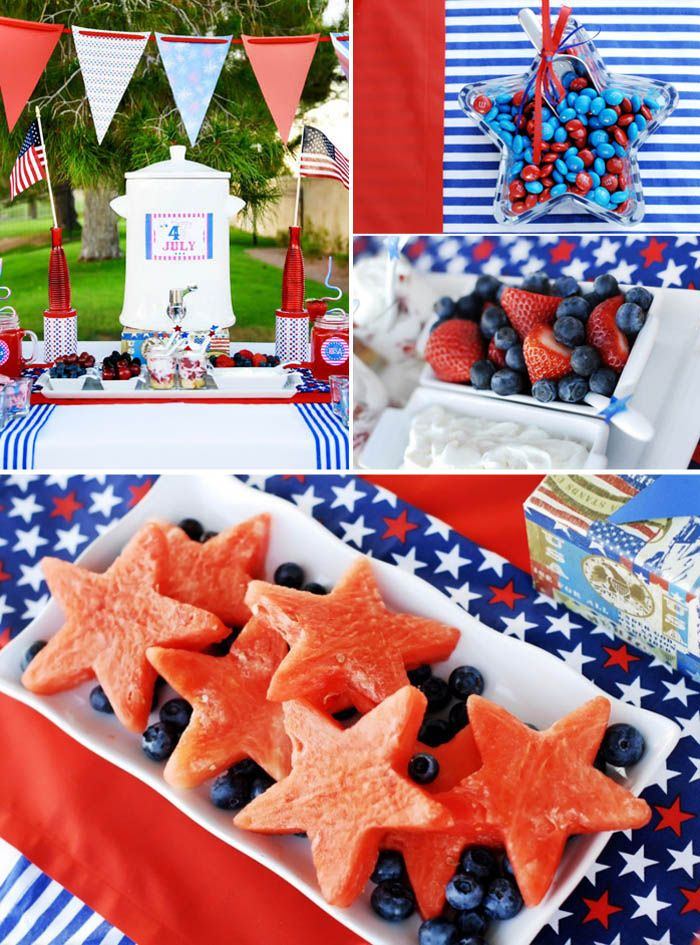 4th of July: Fruit Dishes, Hot Summer Day, Fourth Of July, Red White Blue, Watermelon Stars, 4Th Of July, Parties Ideas, Cookies Cutters, Fruit Trays