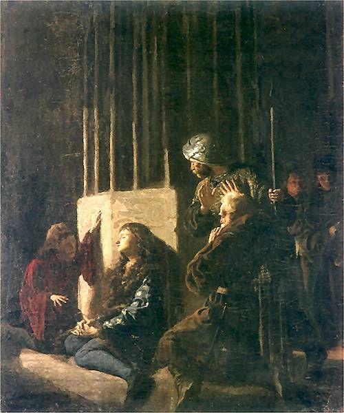 Leon Wyczółkowski - Królewicz Kazimierz i Długosz, 1873