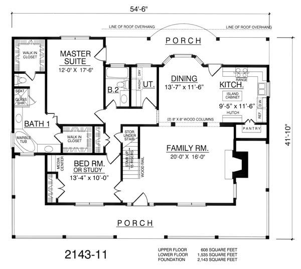 2 story with wrap around porch 1 535 sq ft second floor for House plans with second story porch