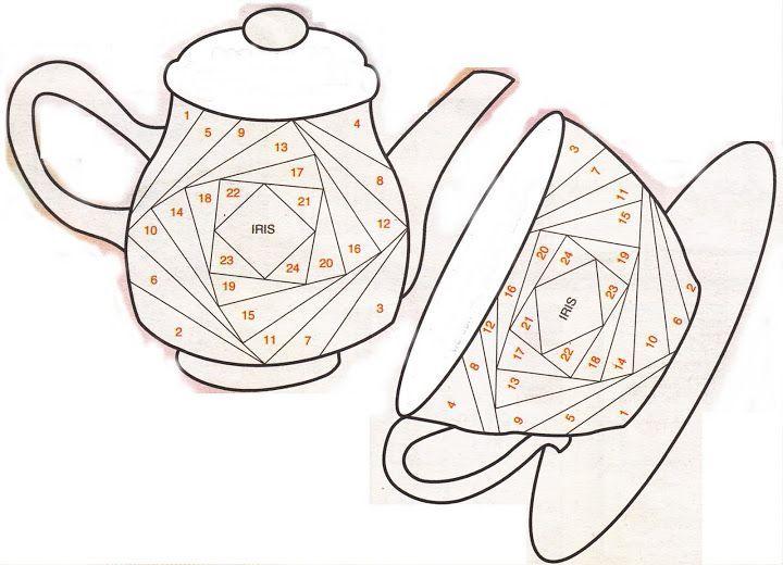 45 Best Iris Folding Patterns Images On Pinterest