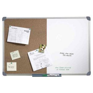 Quartet 1200x900mm Aluminium Frame Combination Board
