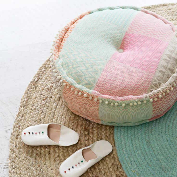 Zimmi Patchwork Pouffe   Sage and Clare