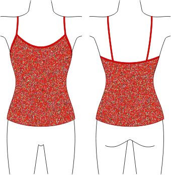 Pattern Making Tutorial: The Tankini Top & Crop Top. From: http://www.patternschool.com/?page_id=402 .
