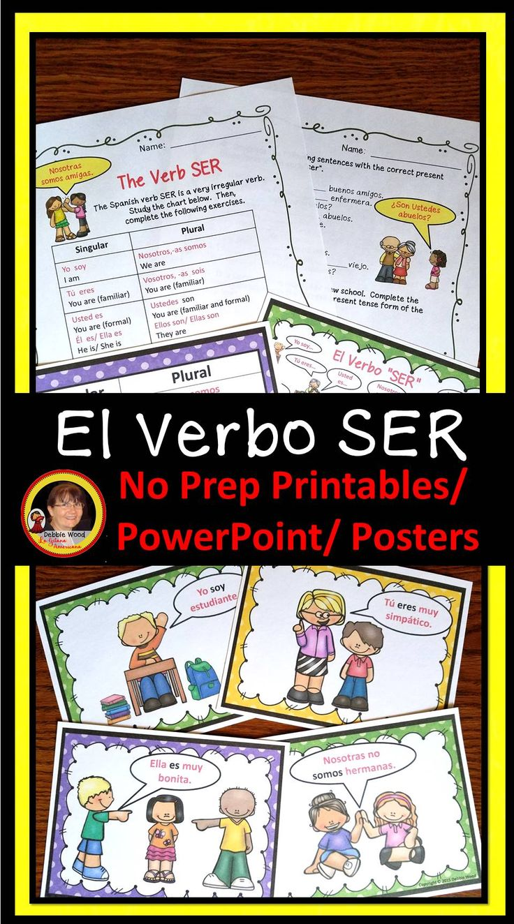Language Arts Worksheets 2nd Grade  Best My Spanish Resources Images On Pinterest  Spanish  Picture Sequencing Worksheets Excel with Simplifying Like Terms Worksheets Spanish Verb Ser Bundle Worksheets Powerpoint  Posters Blends Worksheets Kindergarten Excel