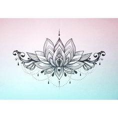 Resultado de imagen para underboob lotus tattoo