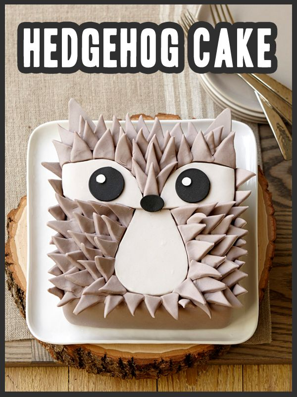How to make a Fondant Hedgehog Cake