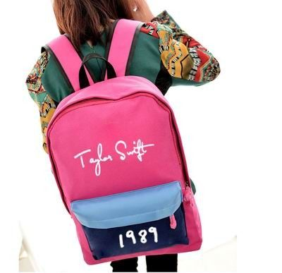 Taylor Swift 1989 canvas schoolbag backpack