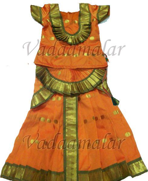 b610ab83d Bharatanatyam Skirt and Blouse Dance Dress for Girls Kuchipudi ...