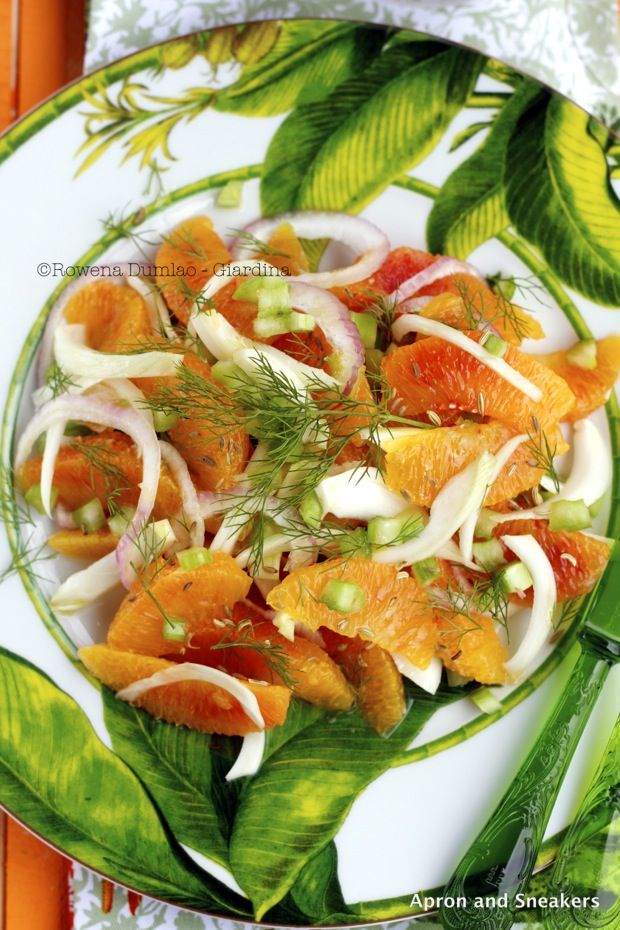 Apron and Sneakers - Cooking & Traveling in Italy and Beyond: Orange Salad With Fennel, Celery and Colatura di Alici di Cetara (Fish Sauce)