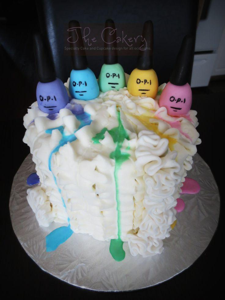 Nail Polish Cake Photos
