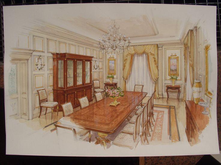 Classic formal dining room. www.malleorossi.it