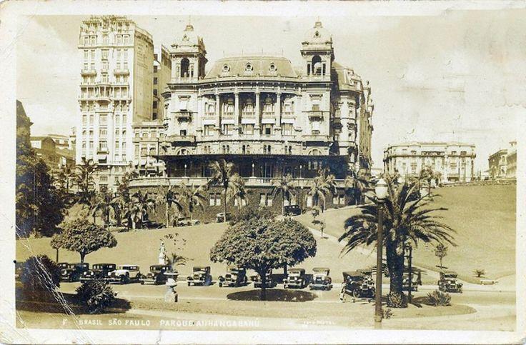 1937 - Parque Anhangabaú - Automovel Clube e Sampaio Moreira - Editor Papelaria Brasileira - MCS