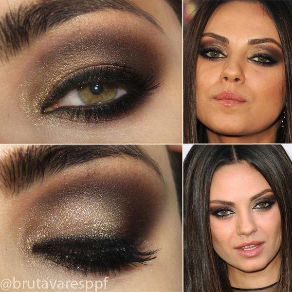 Passo a Passo inspirado em maquiagem dourada e marrom de Mila Kunis