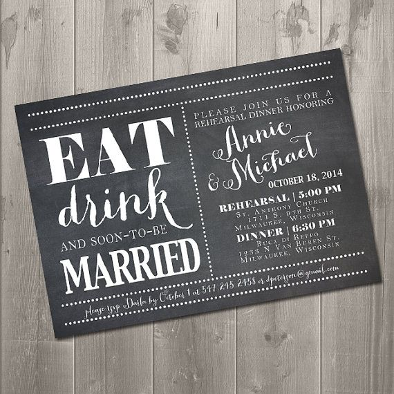 83 best chalkboard menus images on pinterest glass display eat drink and soon to be married chalkboard rehearsal dinner invitation diy printable solutioingenieria Choice Image