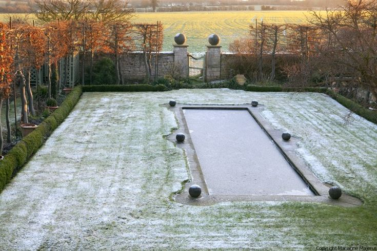 692 best images about garden in winter on pinterest for Winter garden pool