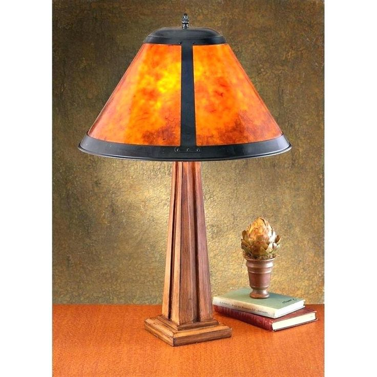 Mission Style Table Lamps Mission Style Table Lamp Threshold Mica Shade Lamps Mutual Sunset
