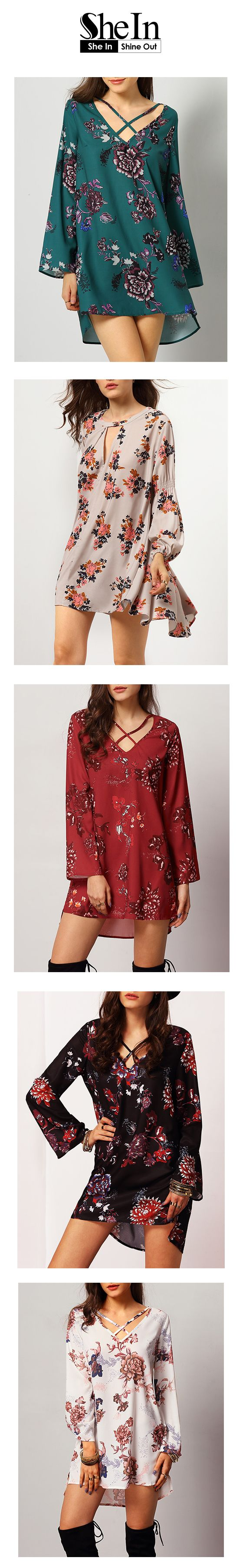 Look at the floral dresses from SheIn,all under $19.99. Most popular dress items For Spring Style,Perfect with Boots and Jeans,find more from SheIn.com