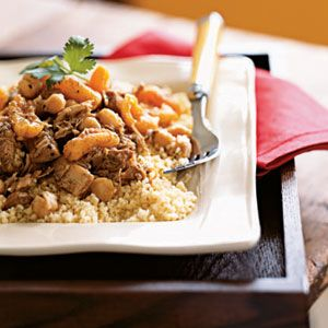 Moroccan chicken with pine nut couscous