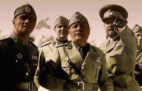 Mussolini and Marshal Italo Balbo in Lybia - 1939/40