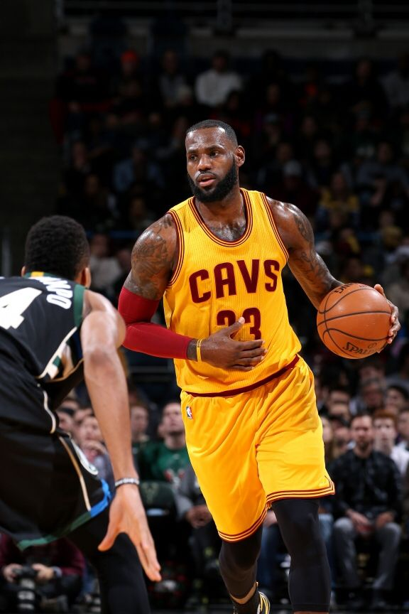 LeBron James #23 of the Cleveland Cavaliers handles the ball during the game against the Milwaukee Bucks on December 20, 2016 at the BMO Harris Bradley Center in Milwaukee, Wisconsin.