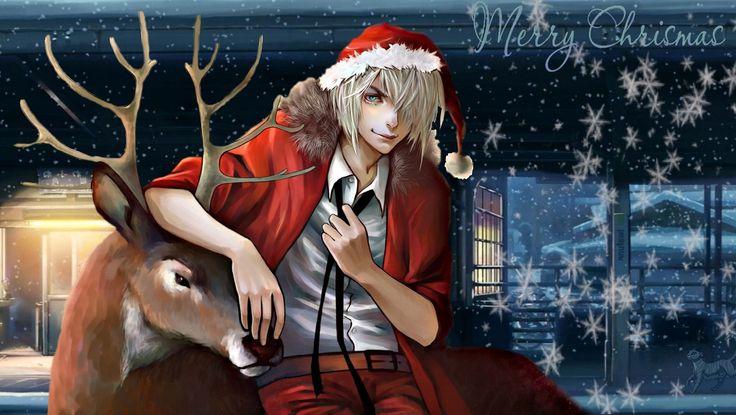 Рождество в стиле анимэ