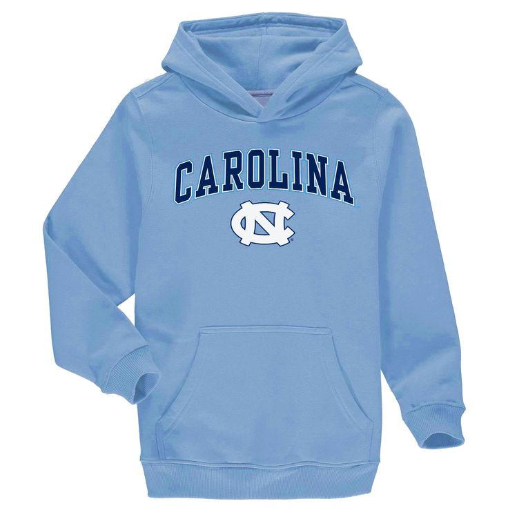 Fanatics Branded North Carolina Tar Heels Youth Carolina Blue Campus Pullover Hoodie