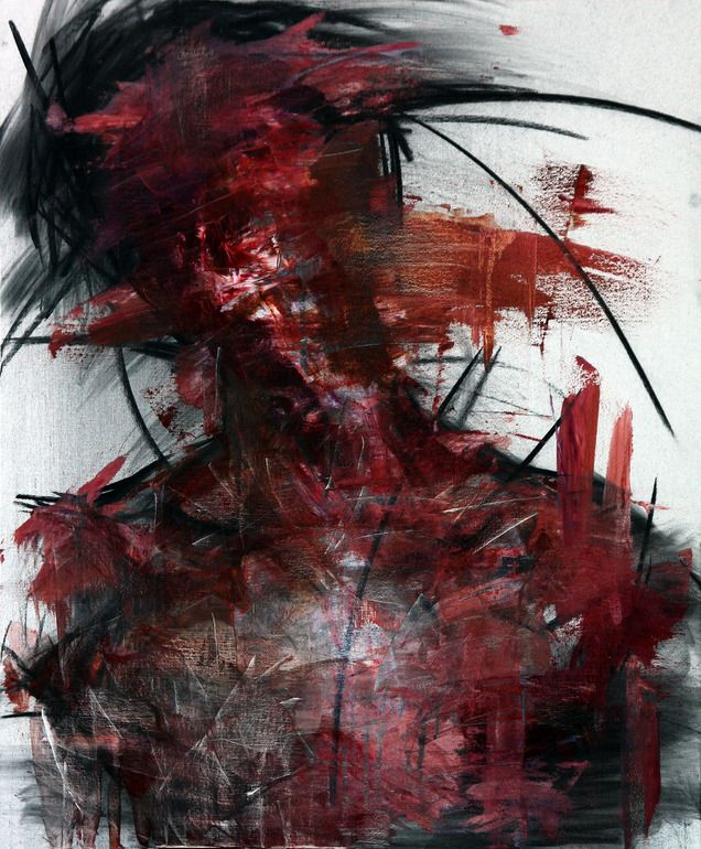 """Saatchi Online Artist: KwangHo Shin; Oil, 2013, Painting """"[27] untitled oil & charcoal on canvas 72.5 x 60 cm 2013"""""""