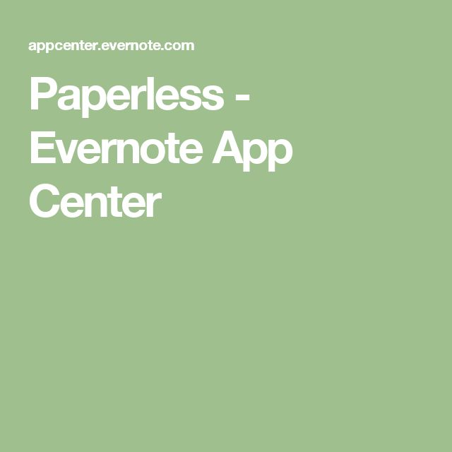 Paperless - Evernote App Center