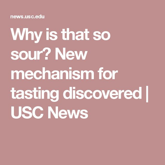 Why is that so sour? New mechanism for tasting discovered | USC News