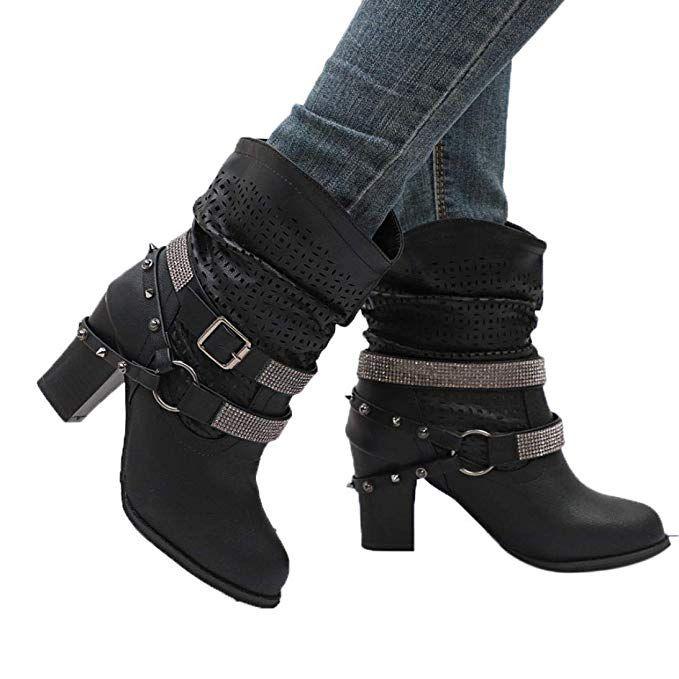 dd98eda1e Hemlock Women High Heels Boots Plus Snow Calf Boots Wedge Heel Ankle ...