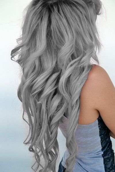 21 Pinterest Looks That Will Convince You to Dye Your Hair Grey | Ash Grey Curls