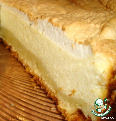 """Творожный тарт """"Слезы ангела"""" - кулинарный рецепт"""