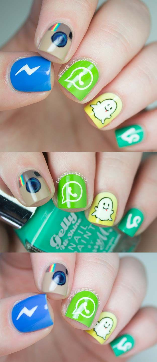 Pin On 50 Cool Nail Art Designs For Teens