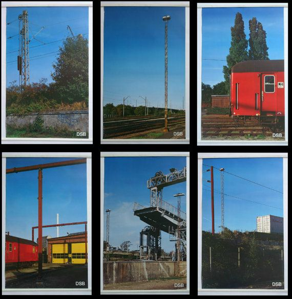 1993 Danish Railways Advertisement 6 Posters  by OutofCopenhagen