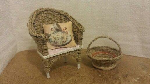 Miniaturas con cuerda y madera