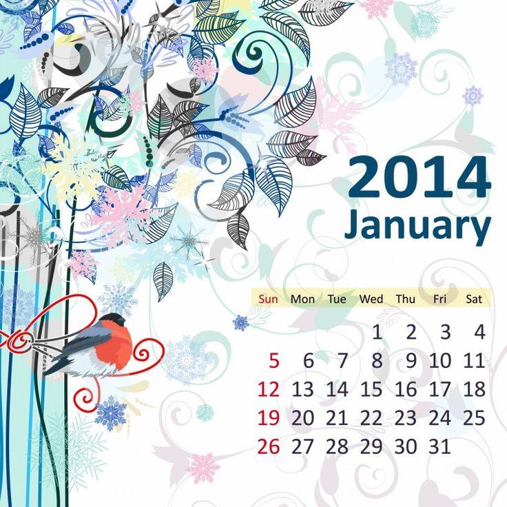 Hello January2014 | January 2014 780x780 2014 Calendar. all Months [12 JPEGs]