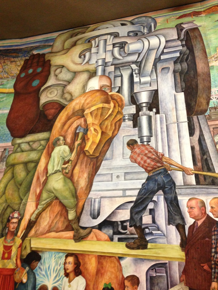 146 best mexico muralismo images on pinterest for Diego rivera mural san francisco