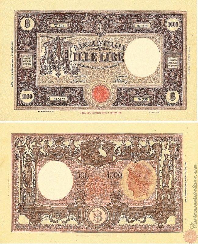 1000 LIRE - Barbetti - modificato (B.I.) - N° 36