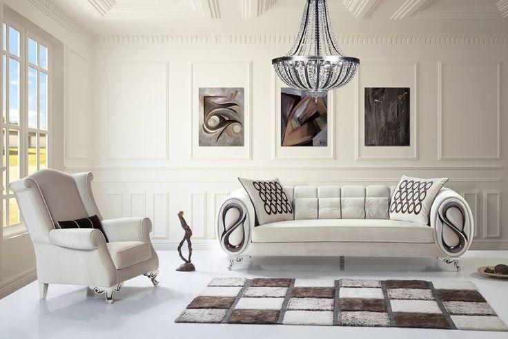 Farklı Tasarım Avangard Oturma Odası   Modern Koltuk Takımı
