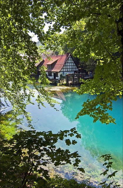 Blautopf Natural Spring, Blaubeuren, Germany
