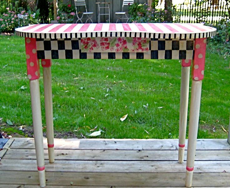Hand Painted Table Priscilla Mae Et Al