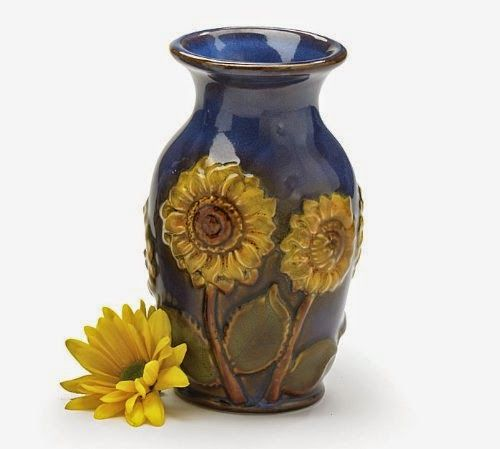 "Beautiful Porcelain 6""H Sunflower Vase Beautiful Floral Vase - Store Online for Your Live and Style"