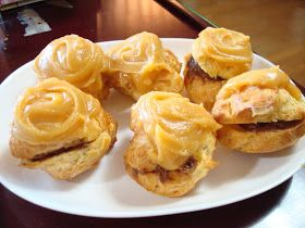 This is a cream puff recipe from a famous bakery in Hawaii - Liliha Bakery. I think it's the best because of the chantilly frosting on the t...