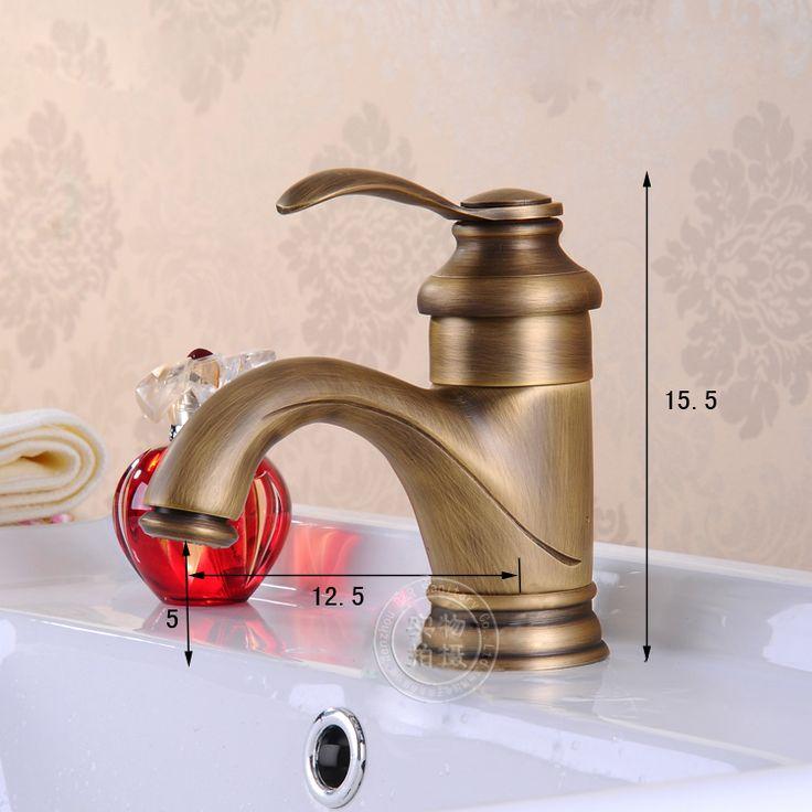 Becola античный дизайн бассейна faucets античная бронзовая античный ванной одной держатель античная латунь бассейн faucet GZ-7203