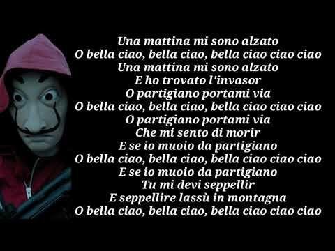 Bella Ciao Manu Pilas Lyrics Youtube Las Casas De Papel Sobres De Papel Letras