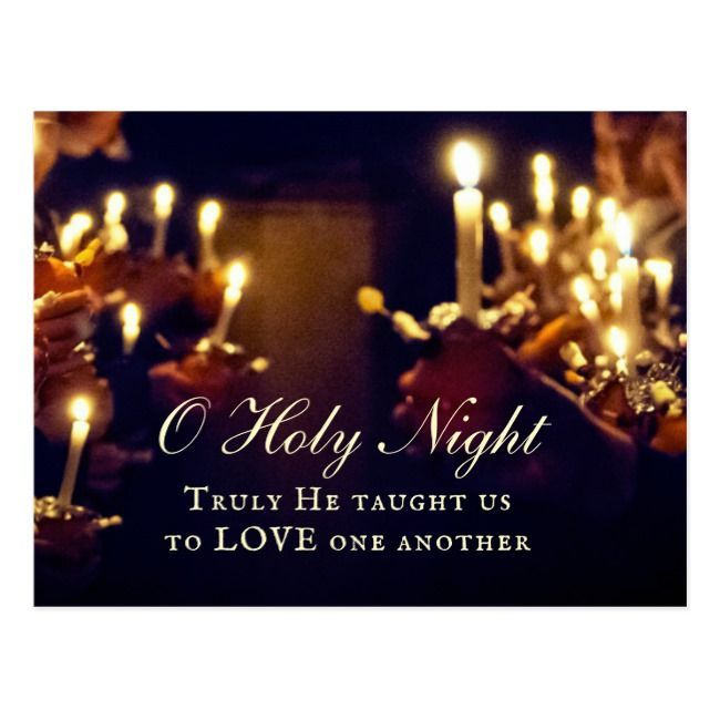Christmas Eve Church Services Near Me 2020 Christmas inspirational quote postcard depicts a beautiful candle