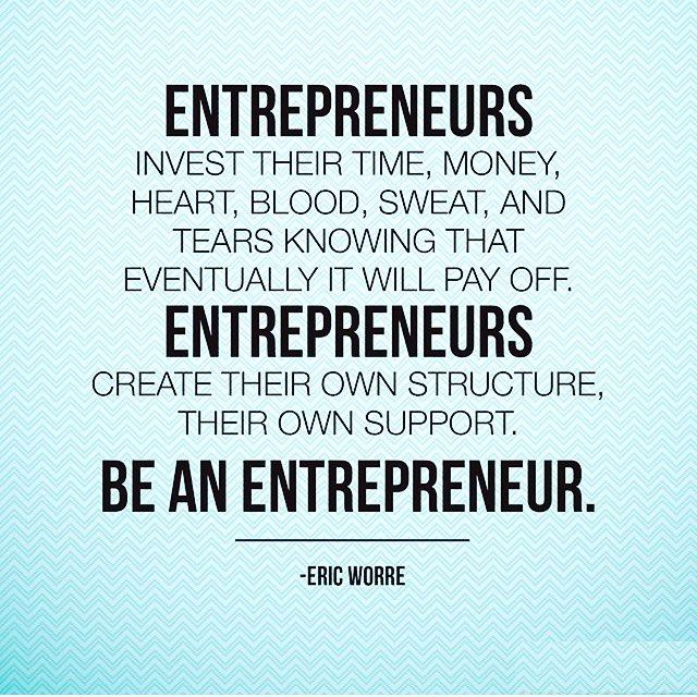 In Honour Of All The Entrepreneurs Out There Taking Risks And